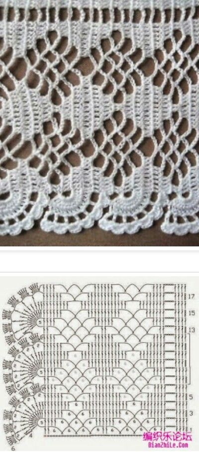 Large Crochet Edging | Εικόνες | Pinterest | Ganchillo, Tejido y Cenefas