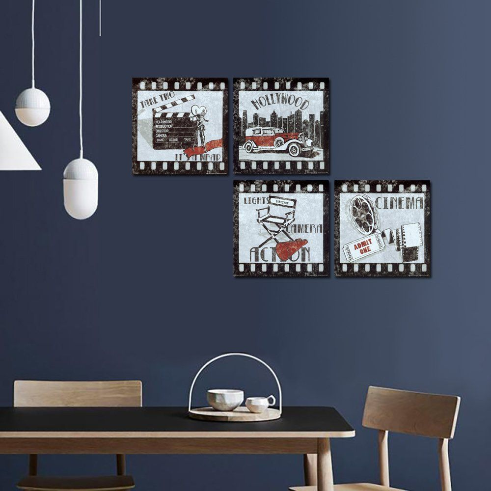 A Cup Of Tea Old Film Canvas Prints Wall Art Pictures Abstract Movies Paintings Artworks For Living Artwork For Living Room Retro Wall Art Living Room Bedroom