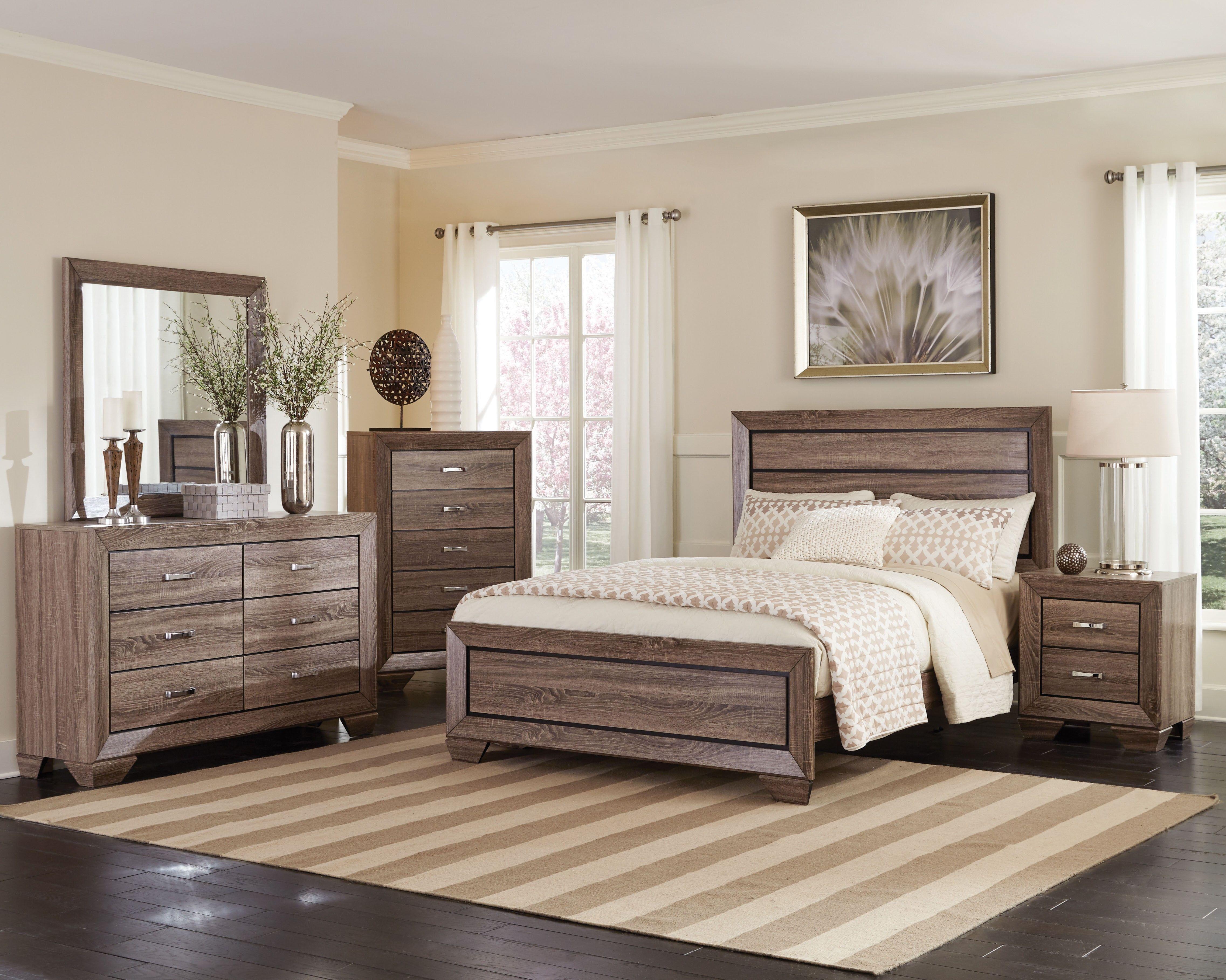 Coaster 204191Kw Kauffman Taupe 4 Pcs California King Bedroom Set Enchanting Cal King Bedroom Sets Inspiration Design