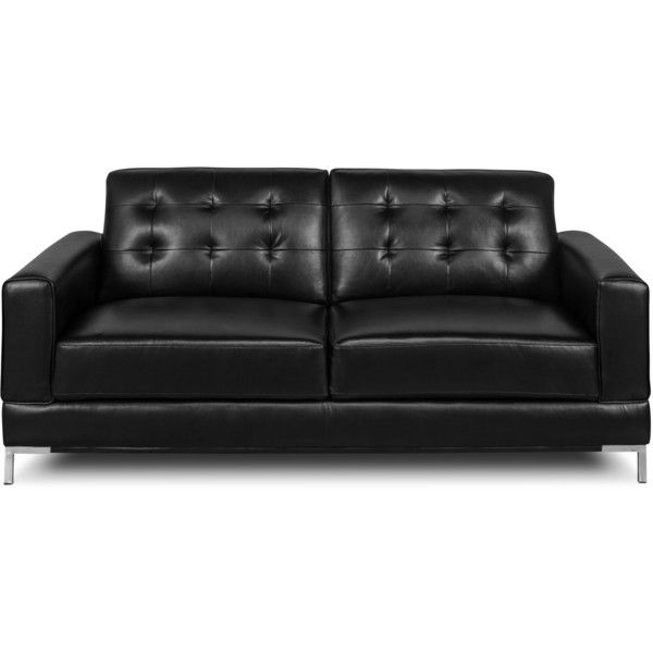 Myer Leather Look Fabric Sofa Black 599 Liked On Polyvore