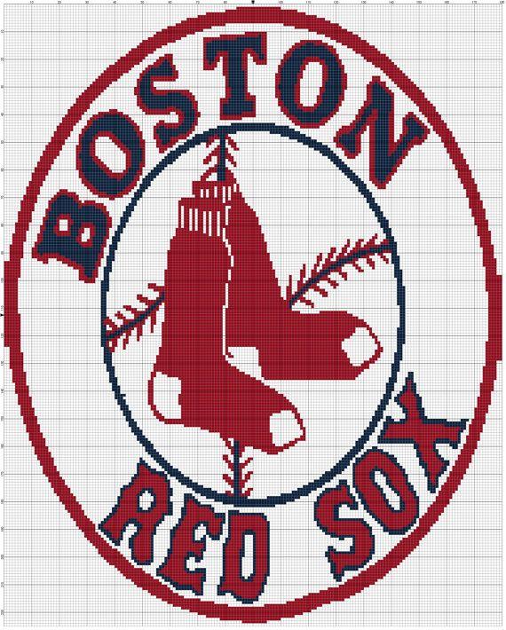 instant download boston red sox crochet by daniellescrocheting rh pinterest com red sox logo eps red sox logo eps