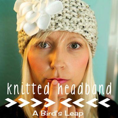 Diy Knitted Headband With Felt Flower Fiber Crafts Pinterest