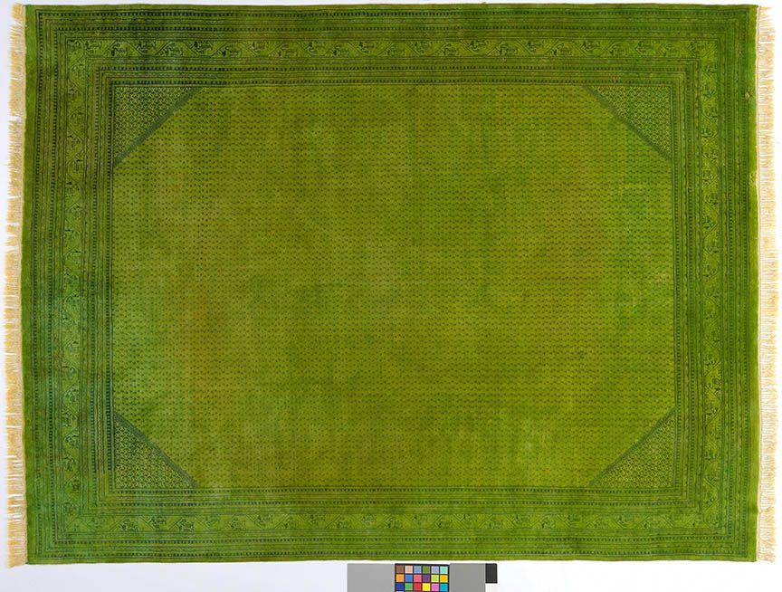 Grün (-er) Teppich by KISKAN PROCESS HAMBURG, Orientteppich - wohnzimmer mit grun