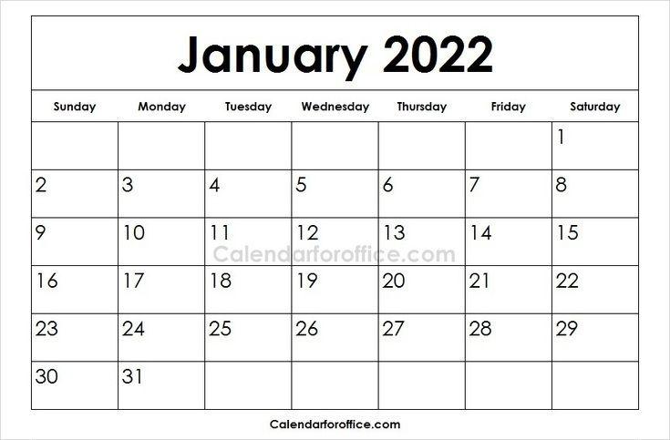 Calendar Of January 2022.58 2022 Calendar Ideas Calendar Calendar Template Calendar Printables
