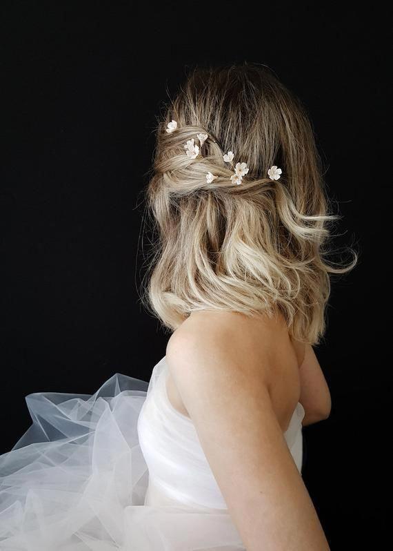 WHISPER | Floral hair pins, wedding hair flowers, floral hair pin
