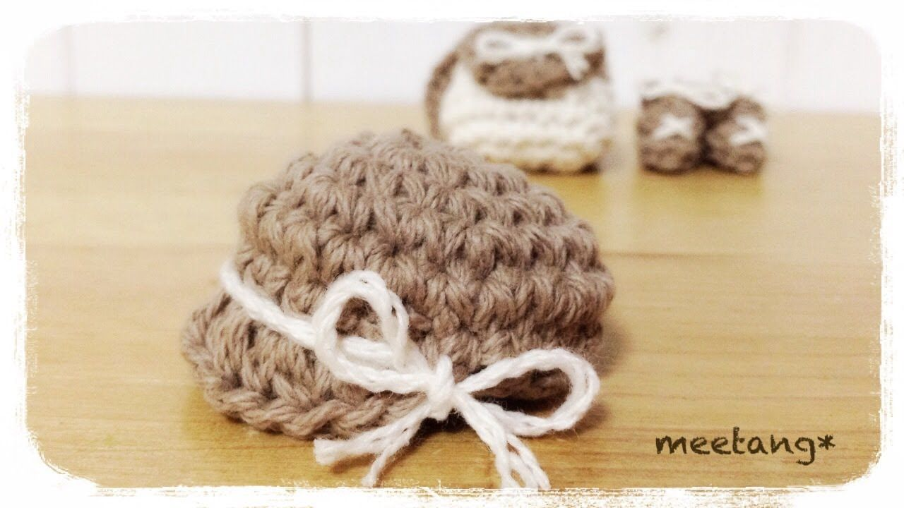 How to crochet a miniature hat(casquette) ミニチュア帽子の編み方 ...