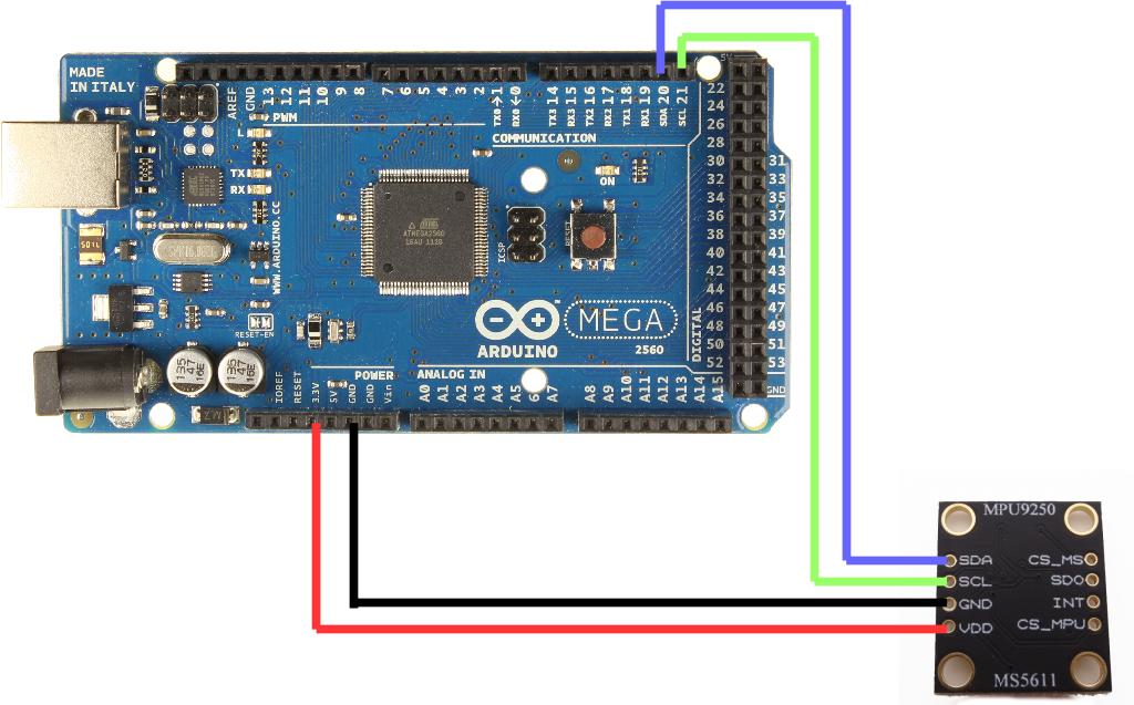 MPU9250 and Arduino (9Axis IMU) | Robotics, Teaching
