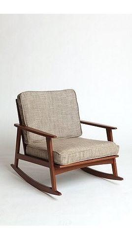 Mid Century Rocker Chair Modern Rocking Chair Mid Century
