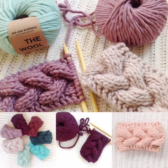 KNITTING PATTERN / / The Braided Crown Cable Knit Headband ...