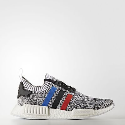 NEW DS Adidas NMD R1 Primeknit Tri Color Grey White BB2888 8