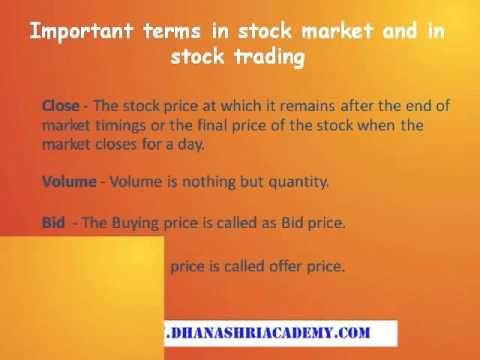 About Stock Market #Trading System