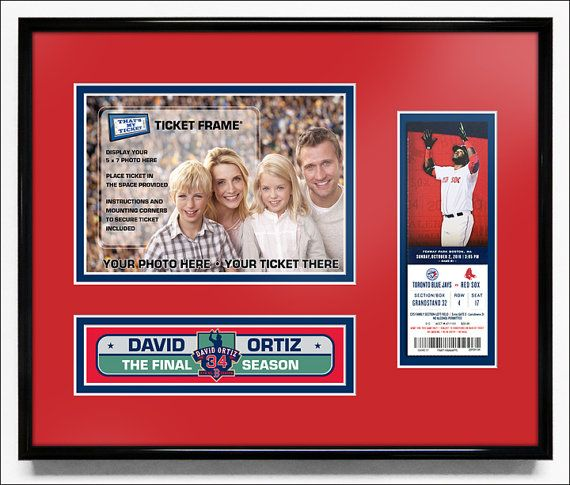 David Ortiz Final Season Your 5x7 Photo Ticket Frame - Red Sox | New ...