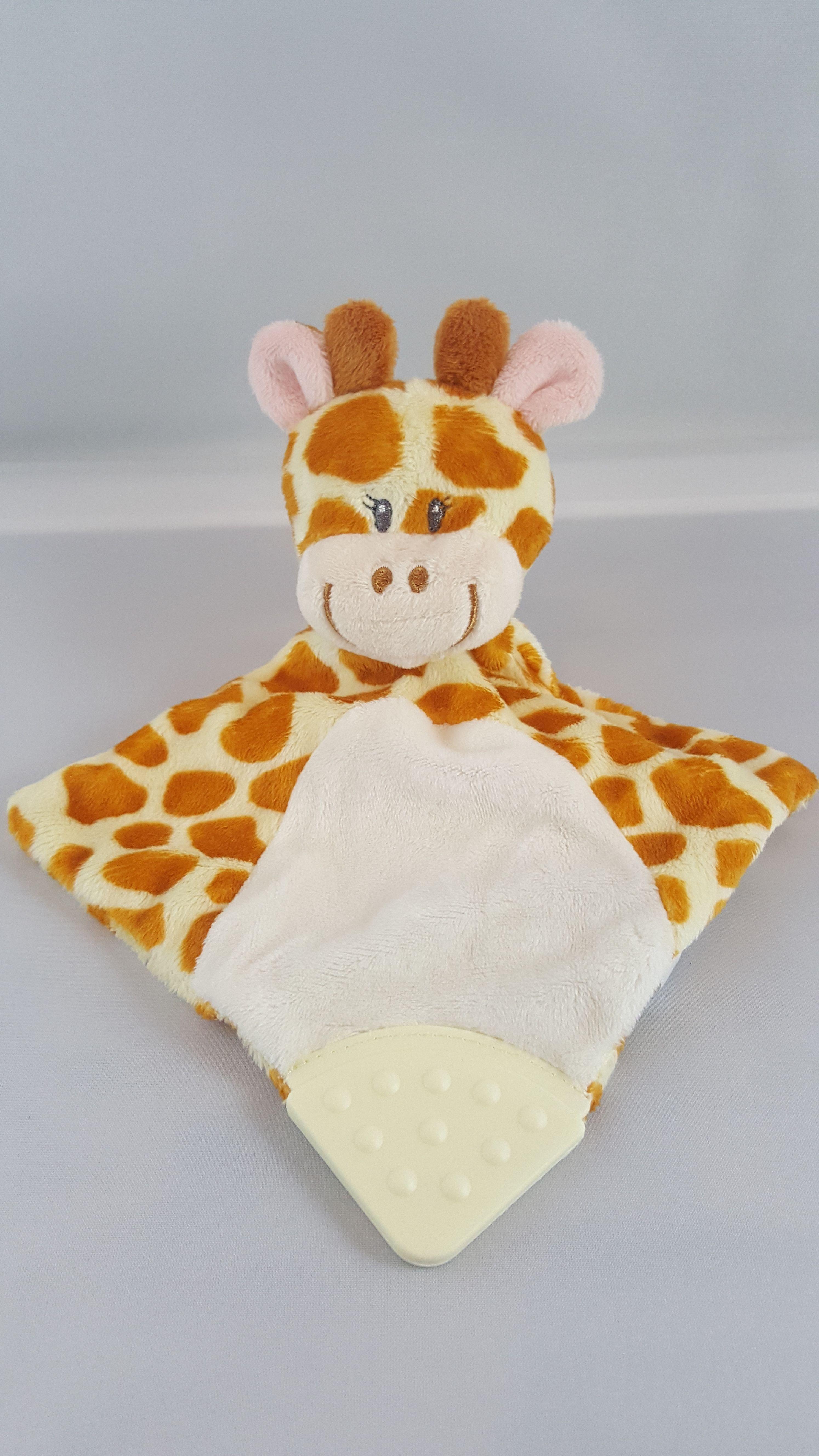 Schnuffeltuch Schmusetuch Giraffe Bestickt Mit Namen Zur