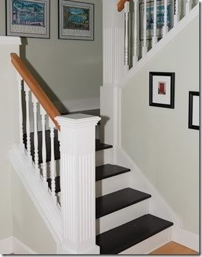 Delightful Painted Stair Treads