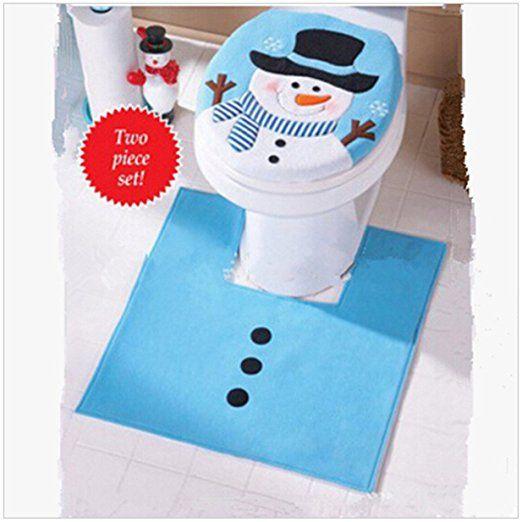 Lalang Blau Schneemann Weihnachtsdekoration WC Toillete