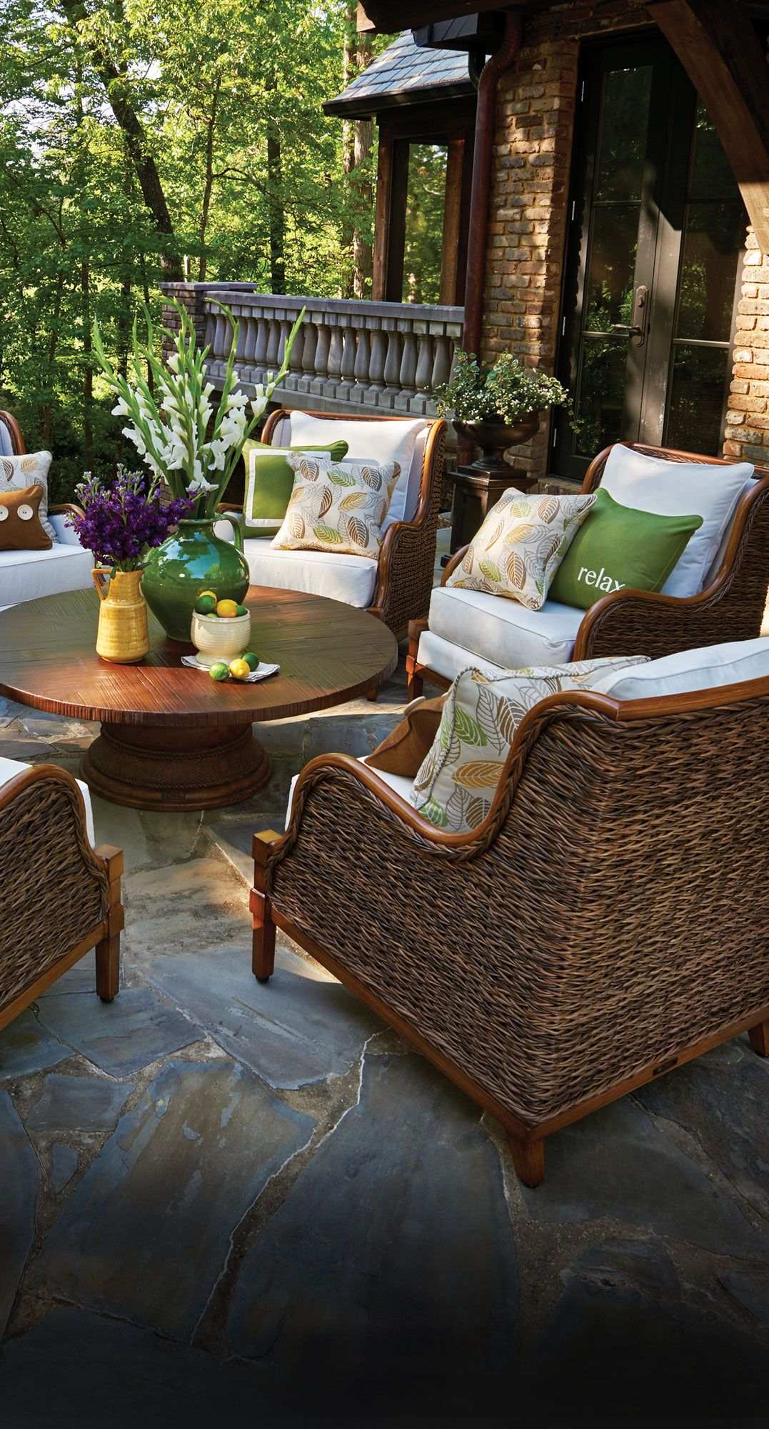 Beautiful and inviting outdoor patio space The addition of accent