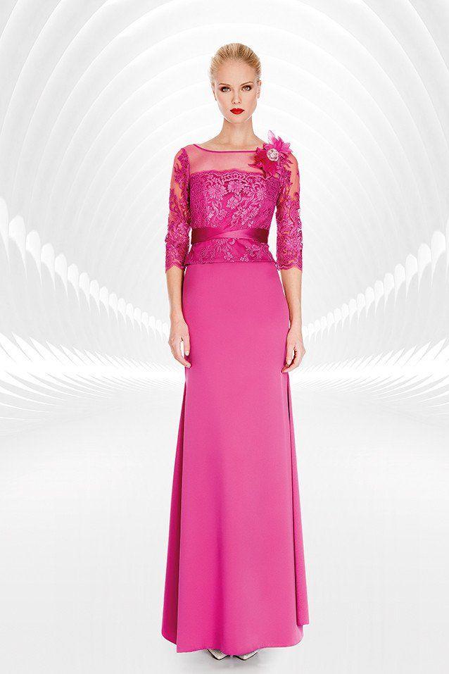 Vestido largo con mangas color boganvilla 1170007 de Sonia peña ...