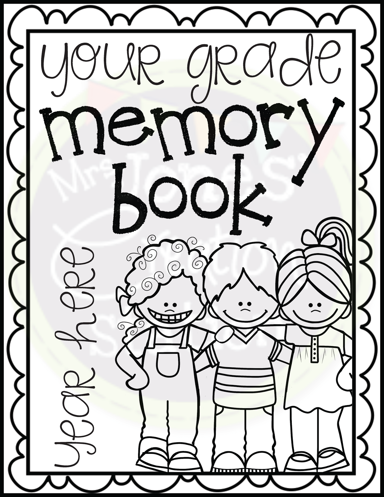 End Of Year Memory Book Editable