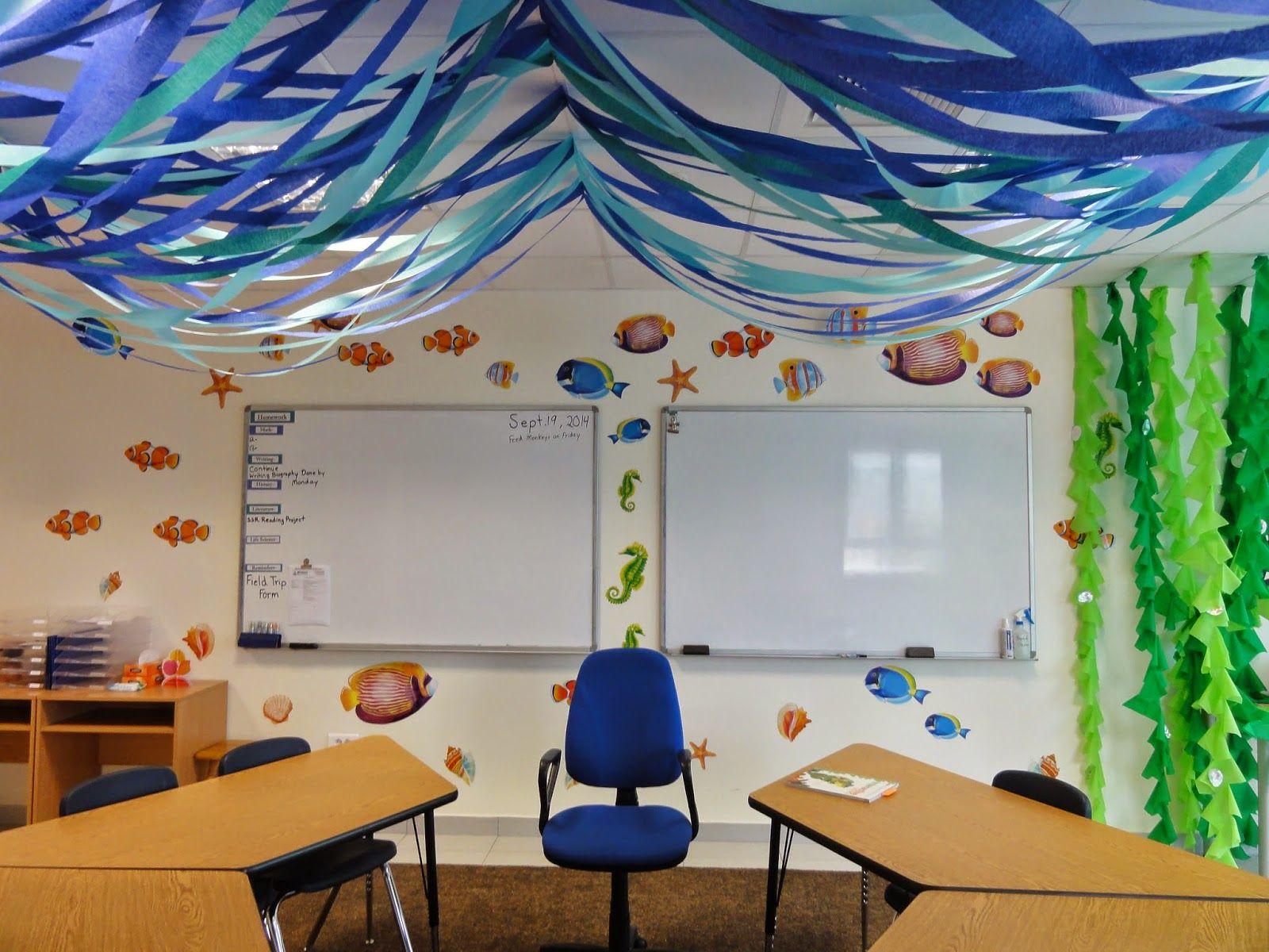 Ocean Classroom Theme With Images Ocean Classroom Ocean Theme