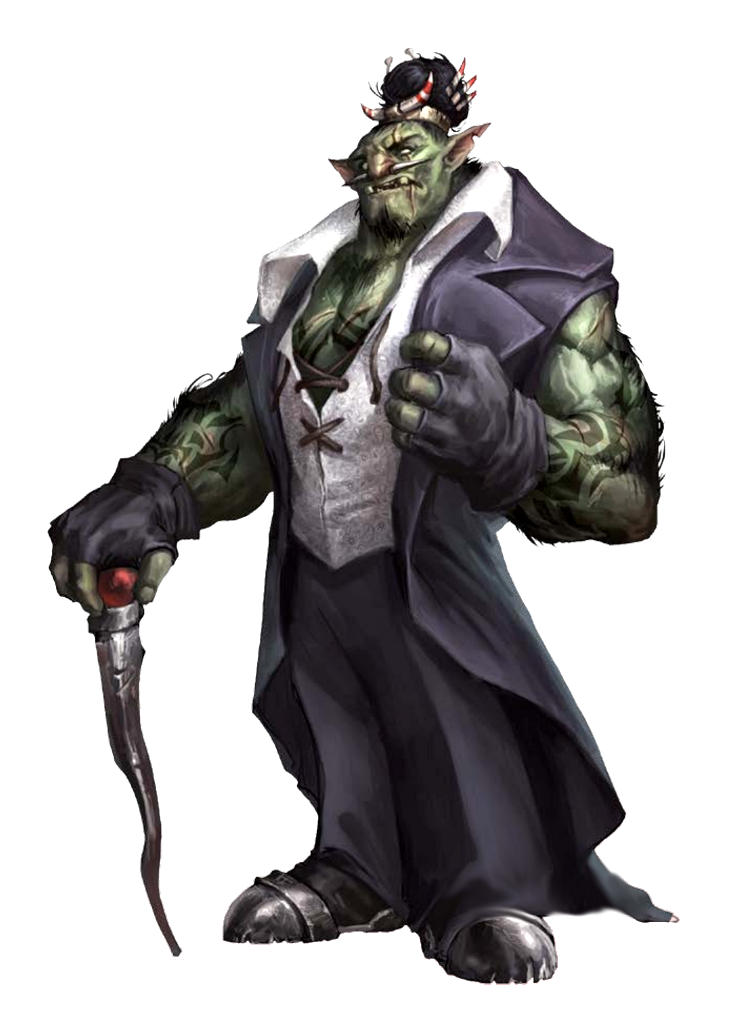 Male Half-Orc Dandy Fighter or Barbarian - Pathfinder PFRPG DND D&D 3.5 5th  ed d20 fantasy | Dungeons and dragons characters, Pathfinder character, Dnd  characters