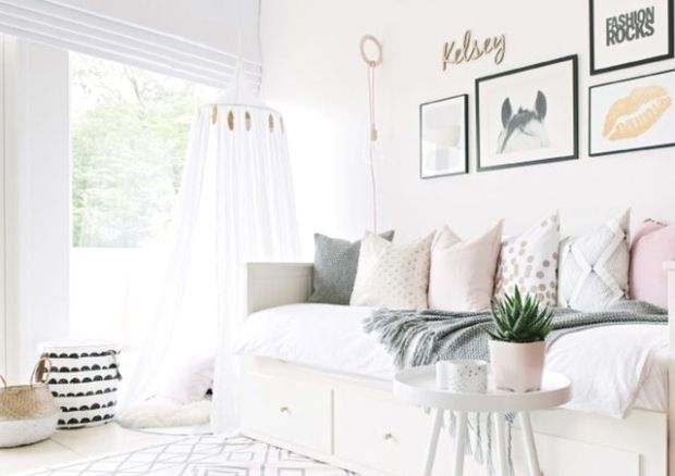 Its rare for a room to be calming and invigorating at the same time but this bedroom is pulling off the feat Busy patterns mix with lazy ones Soft textures contrast with...