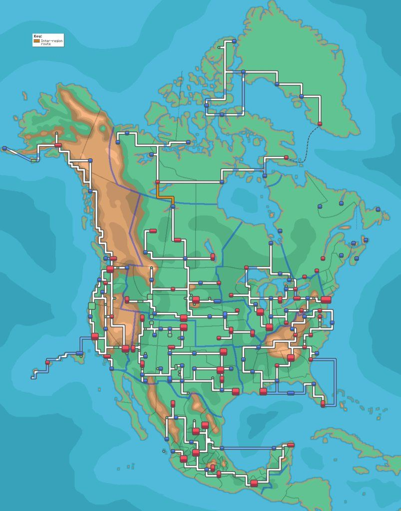 Kalos Map Labeled : kalos, labeled, North, America, Pokemon, Real!, Regions,, Pokemon,, Pictures