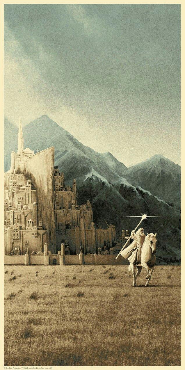 Minas Tirith Poster By Matt Ferguson Lord Of The Rings