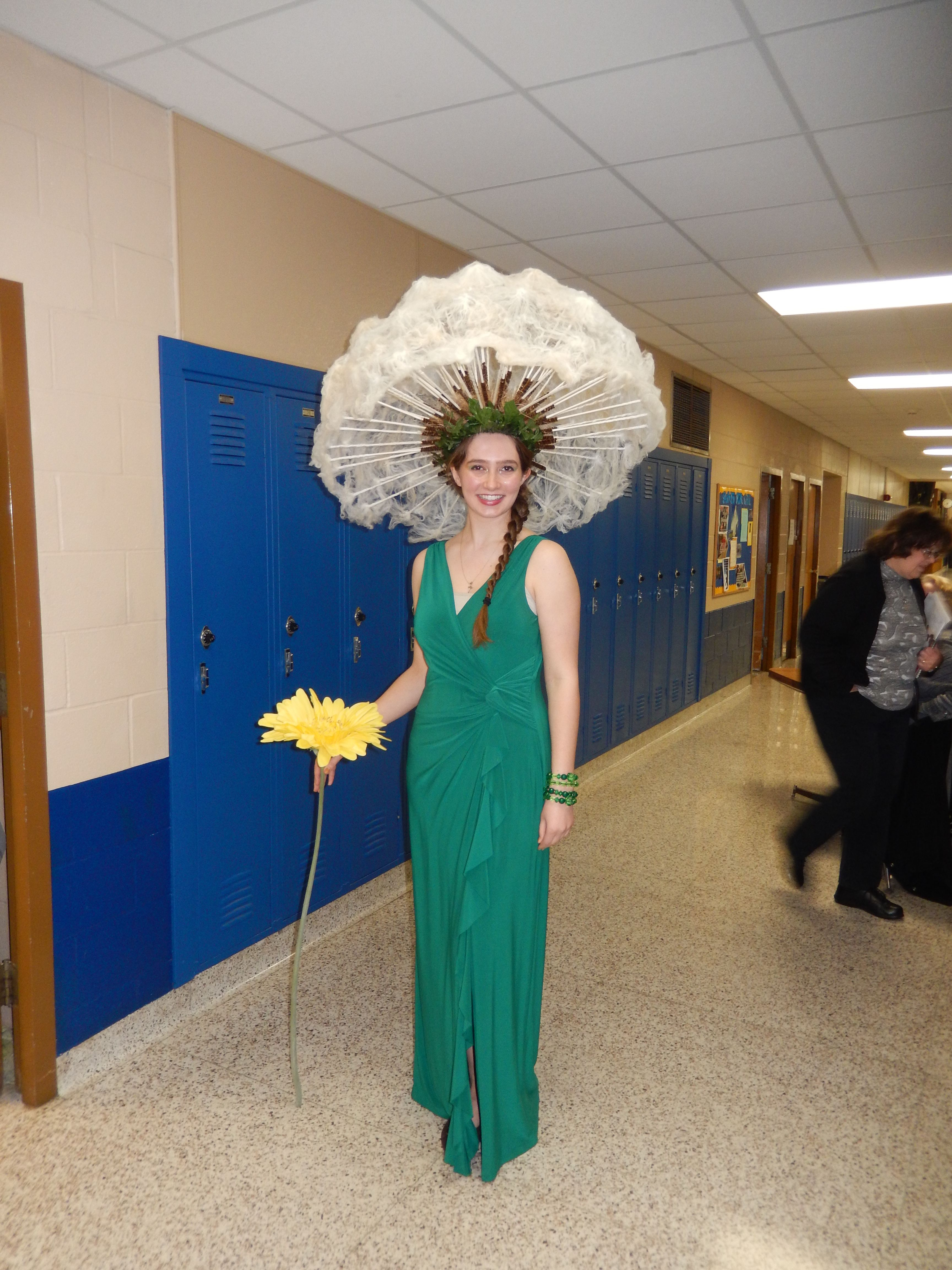 Dandelion Girl.   Flower costume, Creative costumes, Costumes