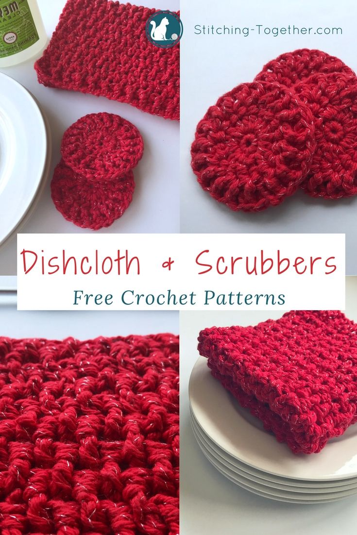 Ribbed Crochet Dishcloths and Dish Scrubbers | Patrones y Tejido