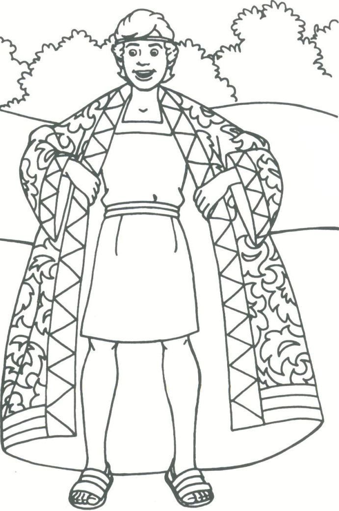coloring pages joseph and the coat of many colors google search - Bible Story Coloring Pages Joseph