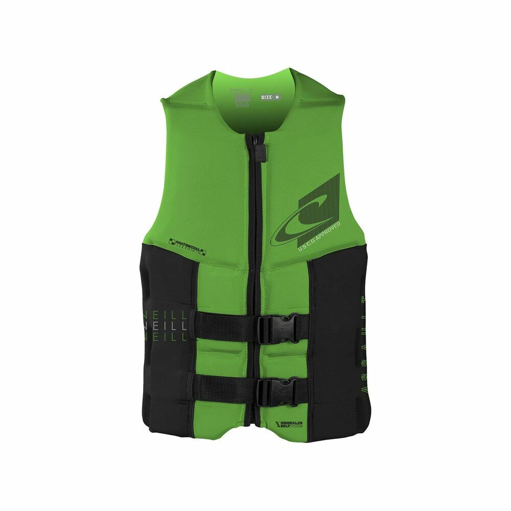 Advertisement Ebay O Neill Assault 39 To 41 Inch Large Water Ski Wakeboard Life Jacket Vest Green Wakeboarding Water Skiing Vest Jacket
