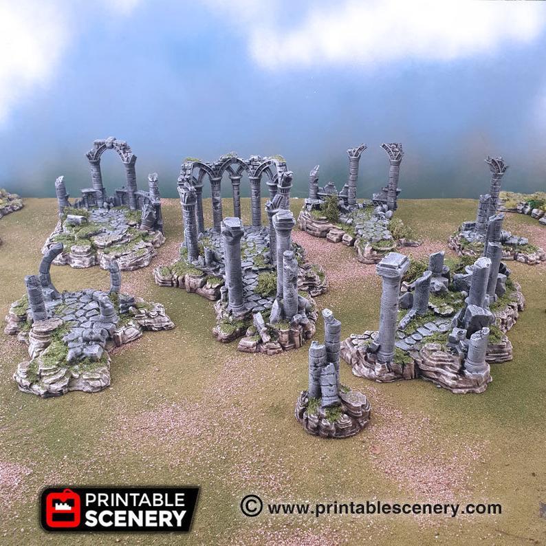 Clorehaven Ancient Ruins - 15mm 28mm Goblin Grotto Wargaming Terrain Scatter D&D, DnD, Pathfinder, Warhammer, 40k