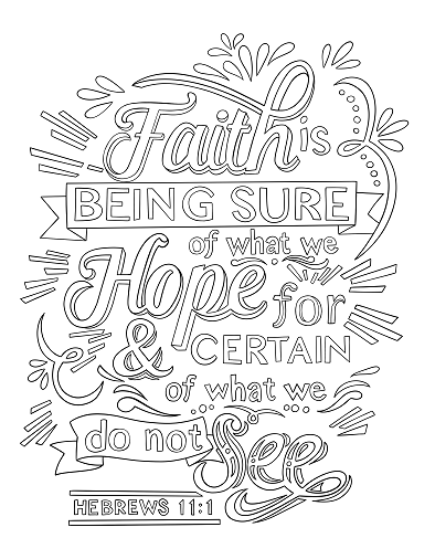 Hebrews Quote Coloring Pages Bible Coloring Pages Bible Verse Coloring Page