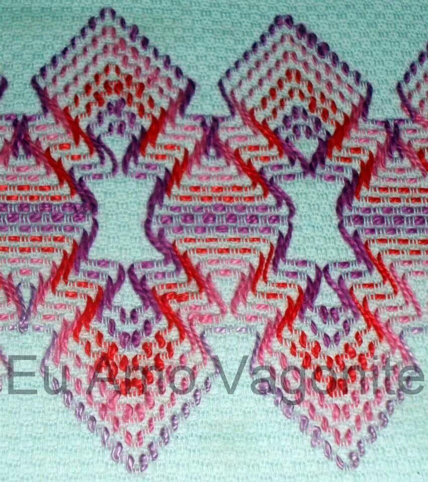 huck embroidery | Joselyn | Pinterest | Bordado, Puntos y Llamas
