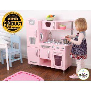 Kidkraft Große Küche 53181 | Kidkraft 53179 Cocina Estilo Retro En Color Rosa Importado De