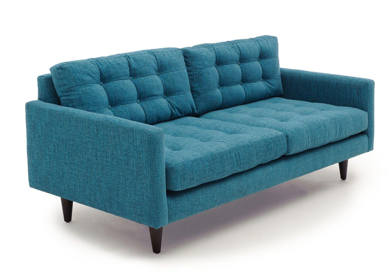 Perfekt Tyler Loveseat In Lucky Turquoise. Modernes SofaMitte Des Jahrhunderts ...
