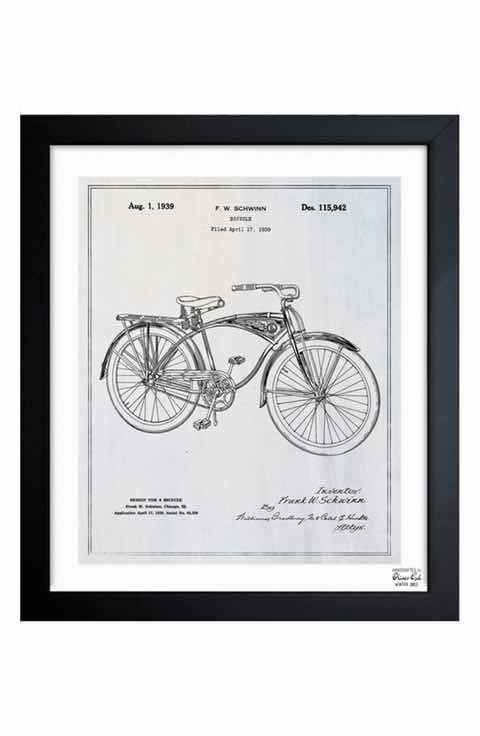 Oliver gal bicycle blueprint framed print art pinterest art wall decor mirrors nordstrom malvernweather Images