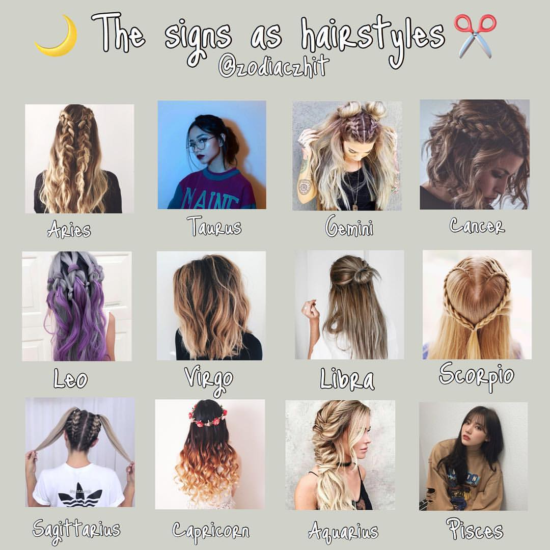 Hairstyles For Zodiac Signs . Hair Zodiac Signs