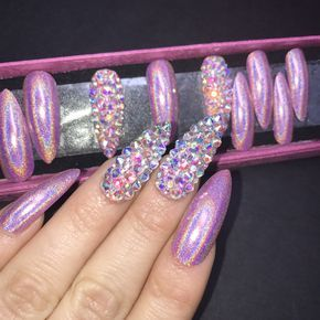 Encapsulated acrylic nails by Serena @ The Nail Vault www