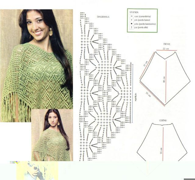 Excepcional Patrón De Crochet Para Poncho Ideas - Ideas de Patrones ...
