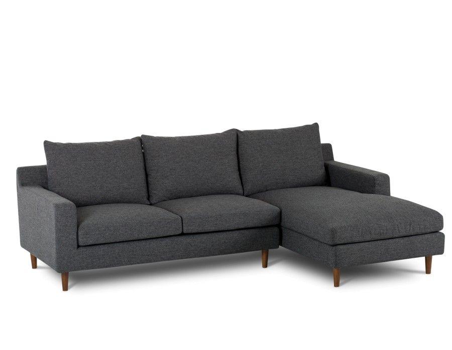 Constance Dark Grey Right Facing Sectional Sofa Structu Grey