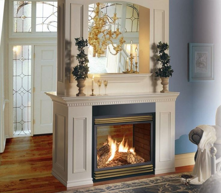 Double Fireplaces Great Room With Double Sided Fireplace