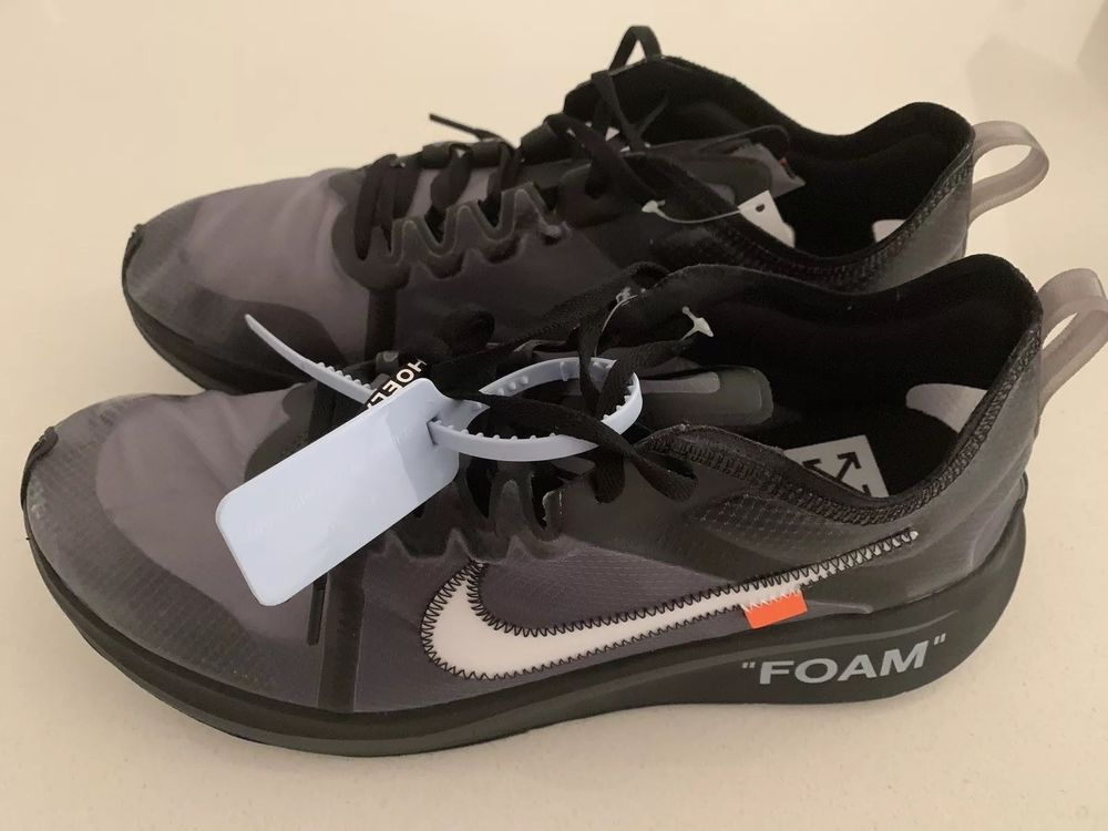 fd0b3dfbea191 Off-White The 10  Nike Zoom Fly Size 13 Black White-Cone-Black ...