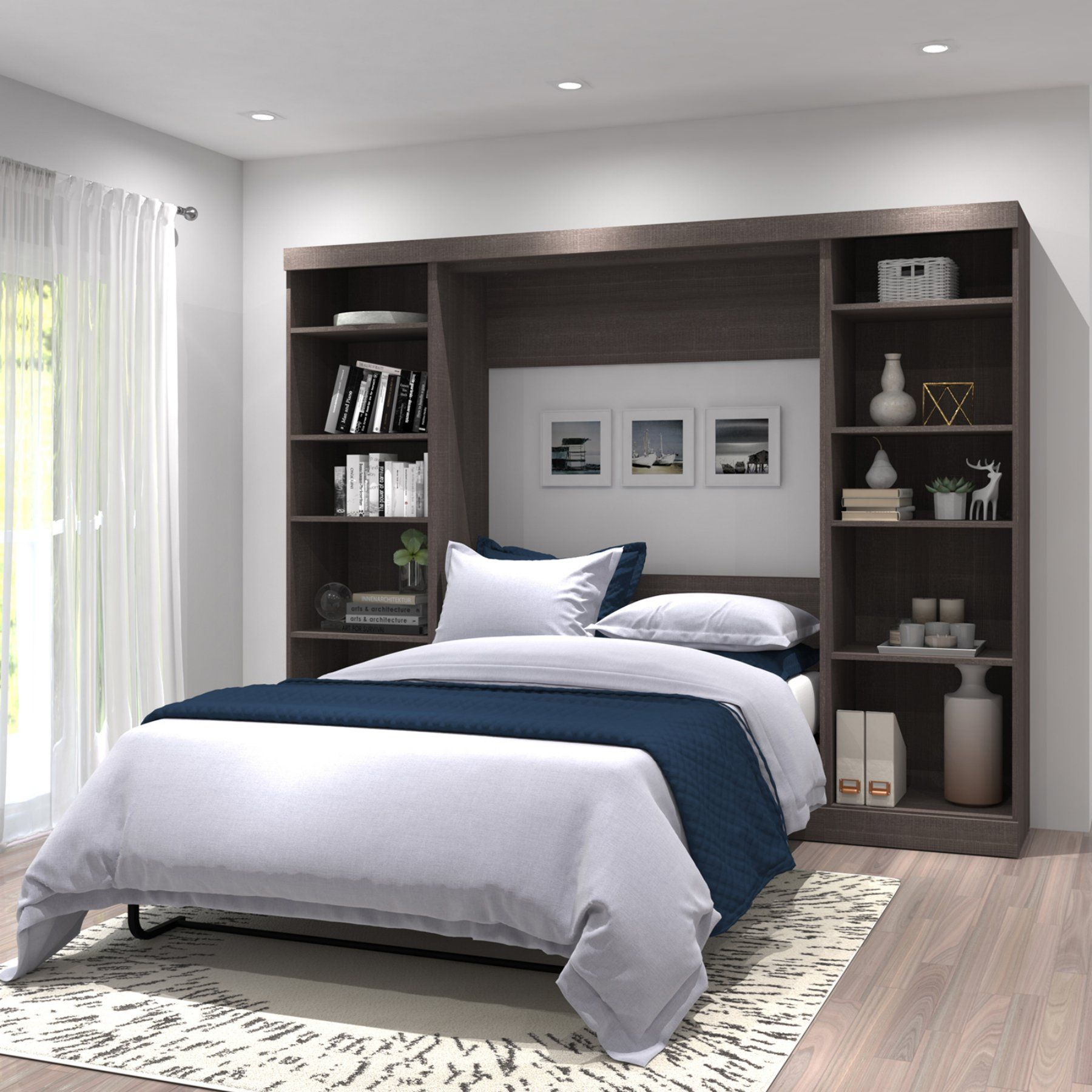 Bestar Pur V Storage Unit Murphy Wall Bed 26893 47 Remodel Bedroom Small Room Bedroom Small Bedroom