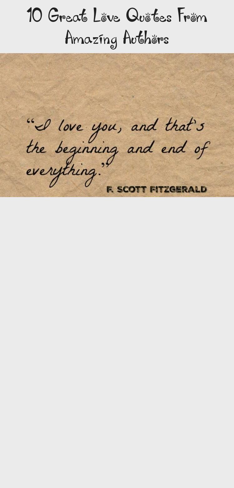 10 Great Love Quotes From Amazing Authors - Quotes  #Amazing #authors #Great #Love