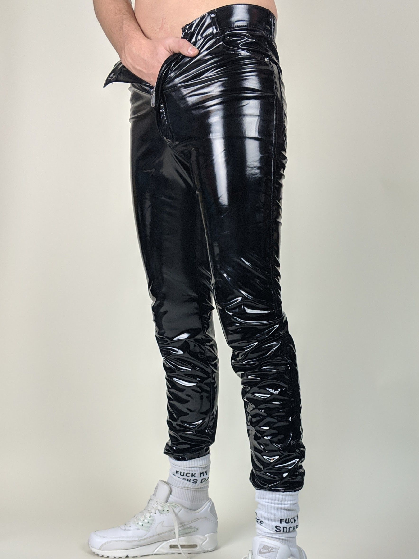 964ce23079 Skinny Leather Pants, Leather Jeans, Skinny Jeans, Fetish Fashion, Latex  Fashion,
