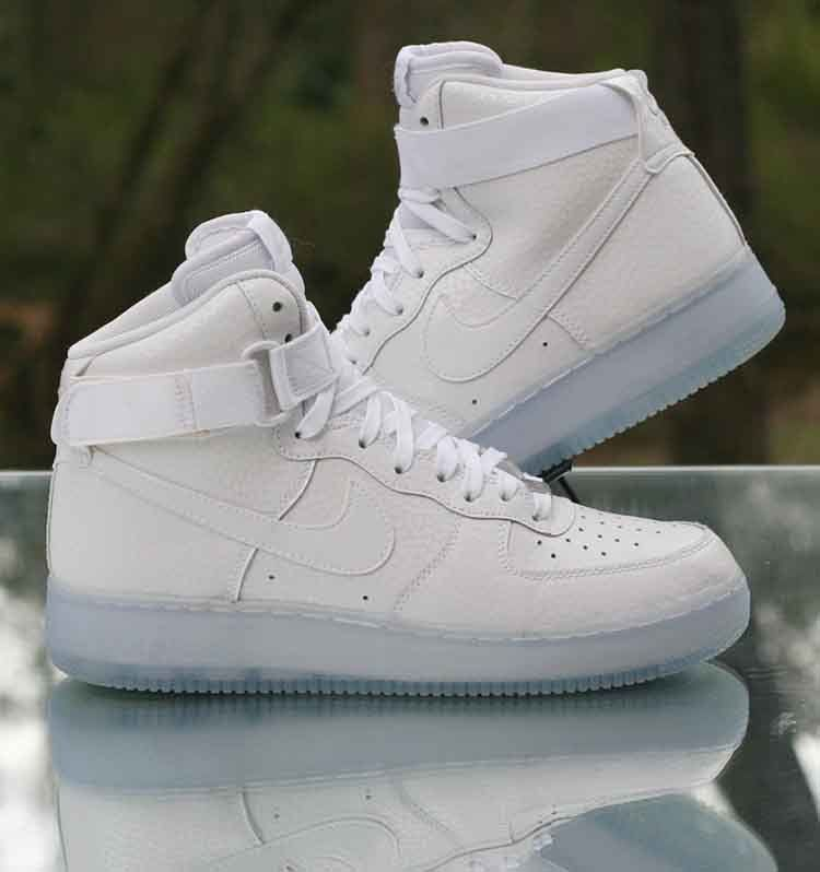 b1921fd807ab Nike WMNS Air Force 1 Hi PRM White Pearl White Ice sole 654440-101 Size 9.5   Nike  HighTop