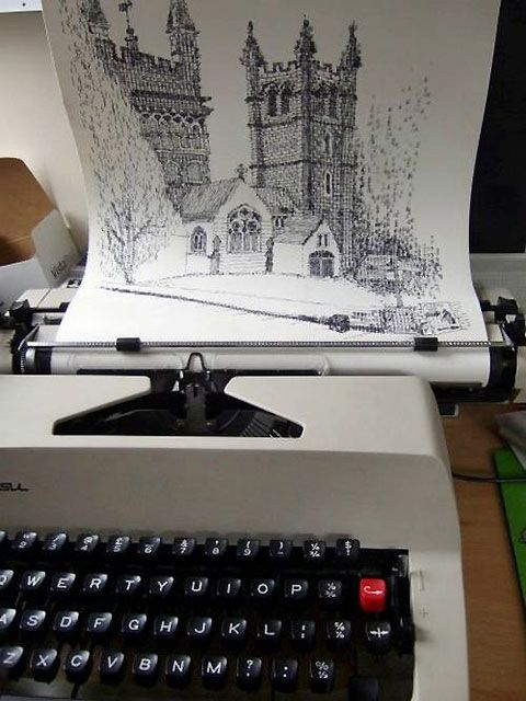 Typewriter Art By Keira Rathbone Pinterest Typewriters Ink