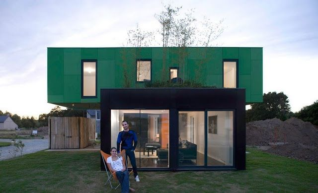 Stunning French Shipping Container House (We Think) Ships - credit impot maison neuve