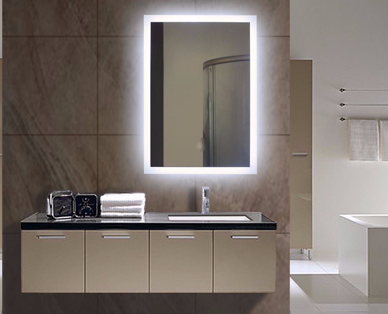Paris Mirror Rectangle Bathroom Mirror With Led Backlights In 2018: BACKLIT MIRROR RECTANGLE 24 X 32 In